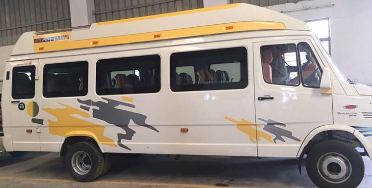 16 Seater Luxury PKN  (12+sofa ) + D  Tempo Traveller hire in Delhi