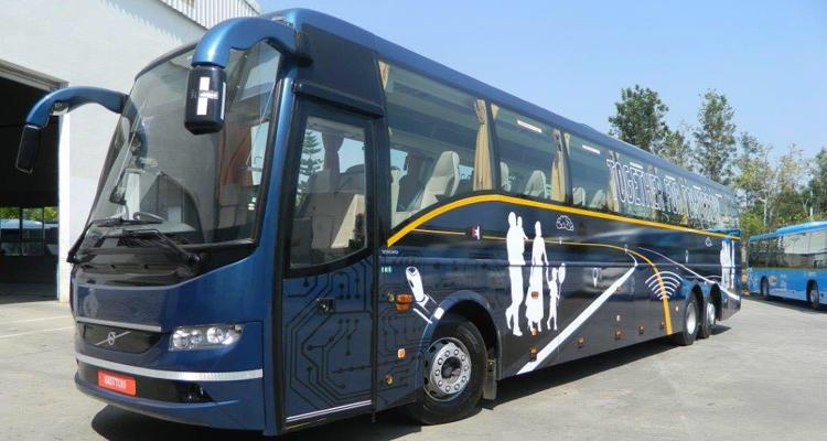 Volvo 38 seater Luxury  with washroom - Multi Axle  hire in Delhi