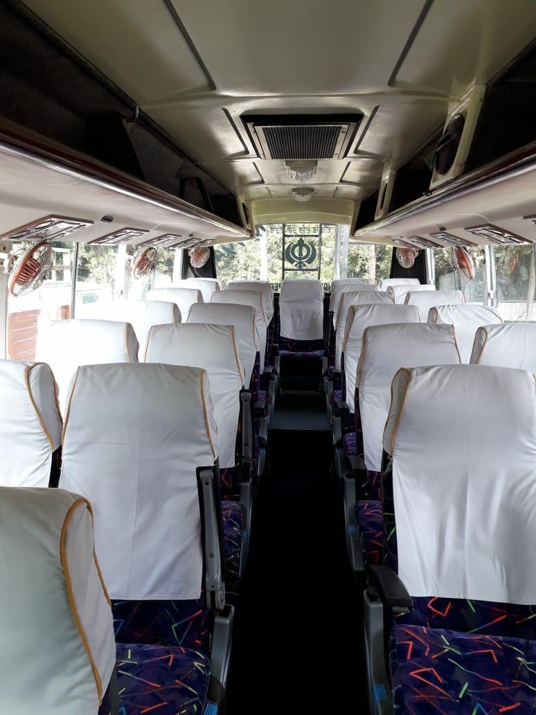 45-seater 2x2 coach  hire in Delhi