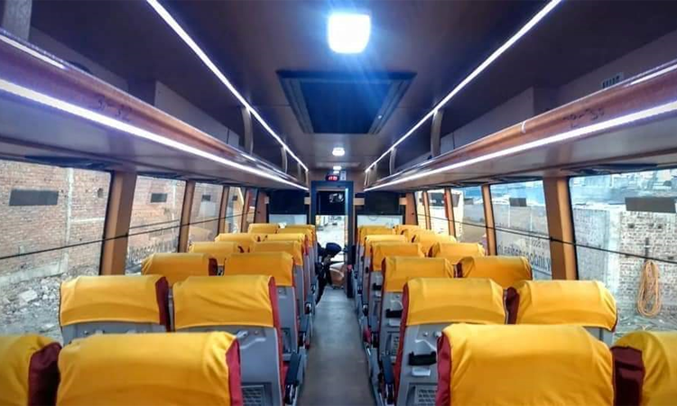 Tata 45 seater coach hire in Delhi