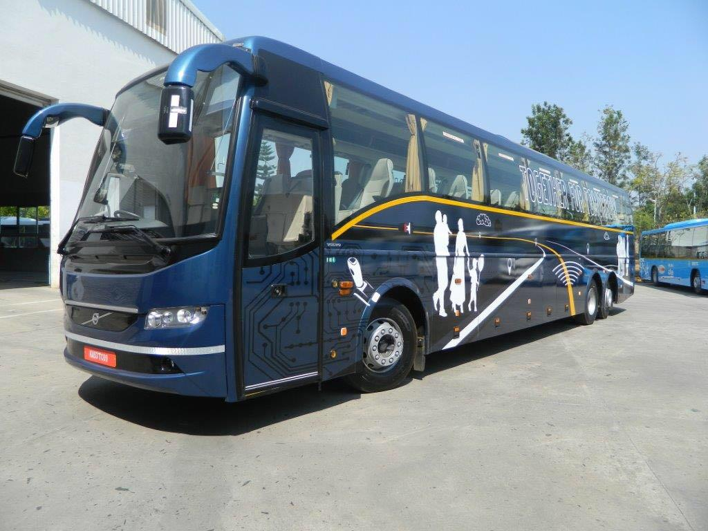 Volvo 38 seater Luxury  with washroom - Multi Axle  on rent in delhi