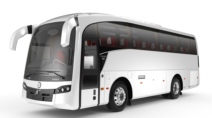 Volvo 41 Seater with washroom Luxury  coach on rent in delhi