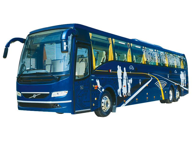 53 Seater Volvo with washroom Multi Axle