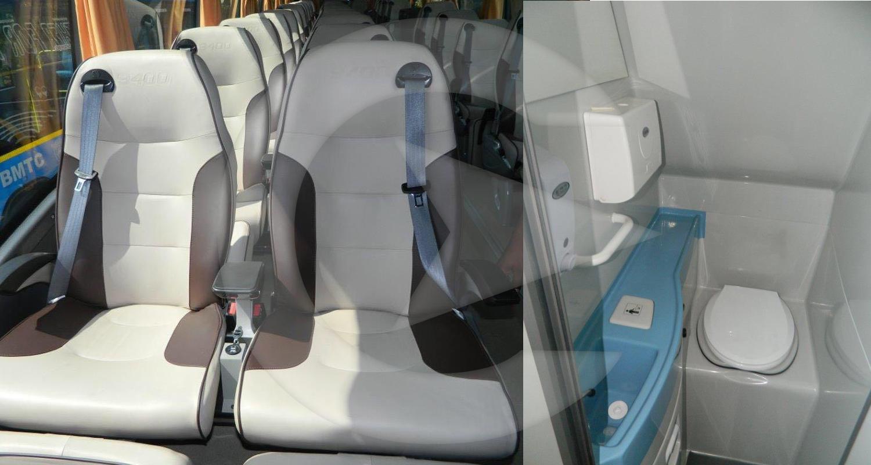 53 Seater Volvo with washroom Multi Axle  hire in Delhi