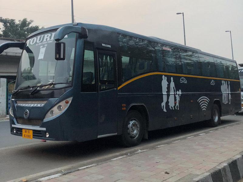 53 seater Multi Axle Volvo Luxury coach  hire in Delhi