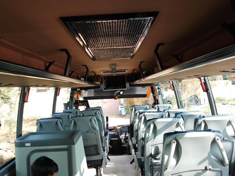 Volvo 41-Seater +Washroom Luxury Coach hire in Delhi