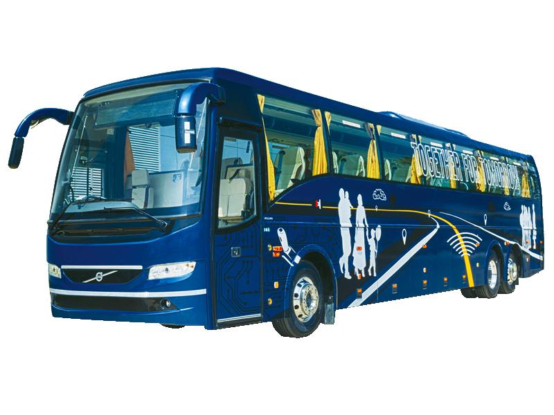 53 Seater Volvo with washroom Multi Axle  on rent in delhi